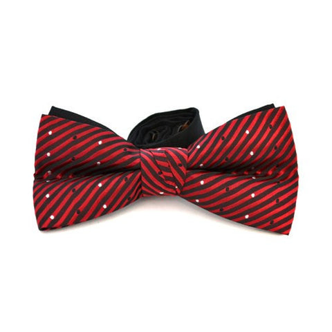 ARCHER - Mens Red and Black Bow Tie