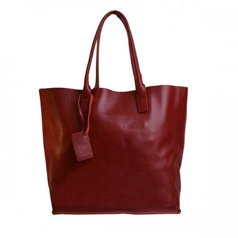 BIRCHGROVE - Womens Red Genuine Leather Tote