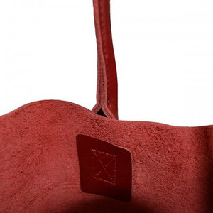 BIRCHGROVE - Womens Red Genuine Leather Tote - BeltNBags