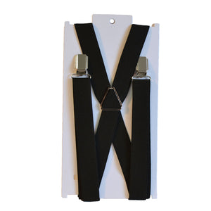 CALVIN - Mens Black Fashion Braces  - Belt N Bags