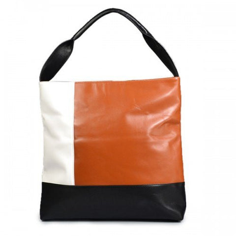 CAMELIA - SALE!! Ladies Tri colour genuine leather tote