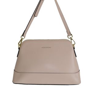 CAIRNS - Nude Structured Leather Cross Body Bag