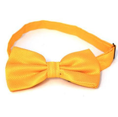 CARTER - Mens Yellow Cross Stitch Bow Tie