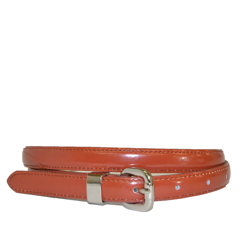 CARRIE - Russet Reddish Brown Colour Genuine Leather Belt - BeltNBags