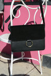 LEICHHARDT- Addison Road Pebbled Leather & Suede Shoulder Bag - BeltNBags