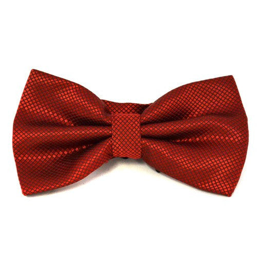 6254afde286d LOGAN - Mens Ruby Red and Black Bow Tie - BeltNBags