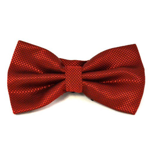 LOGAN - Mens Ruby Red and Black Bow Tie