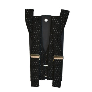 ALBERT - Mens Black and White Dotted Braces  - Belt N Bags