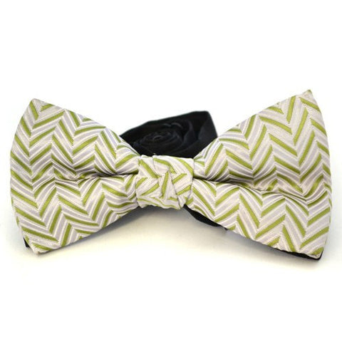 NICO - Mens Green and Grey Bow Tie