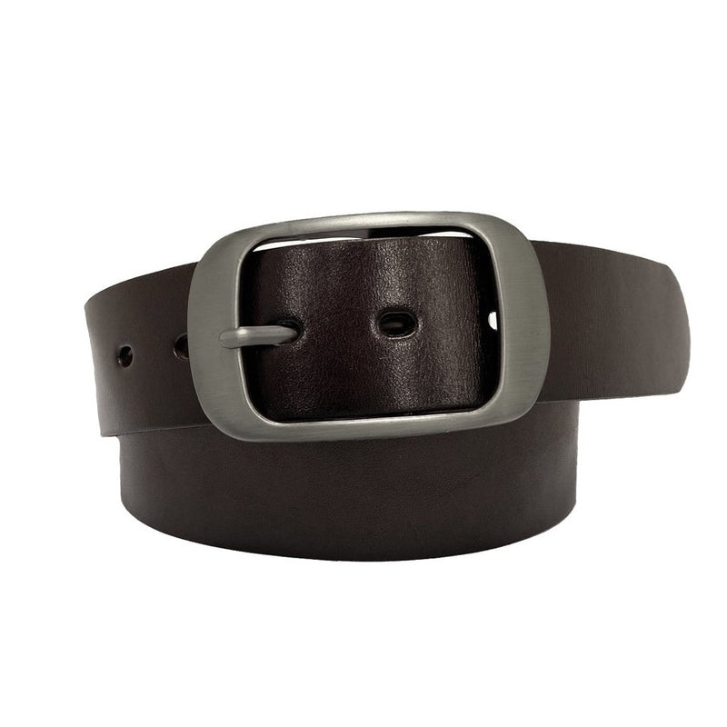 ROBIN FALLS - Women's Dark Brown Genuine Leather Belt with Silver Buckle - Limited Size Range