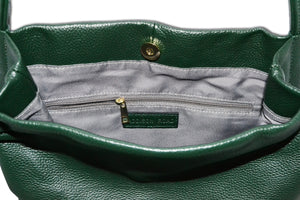 ULTIMO - Addison Road Olive Soft Pebbled Leather Handbag - Addison Road