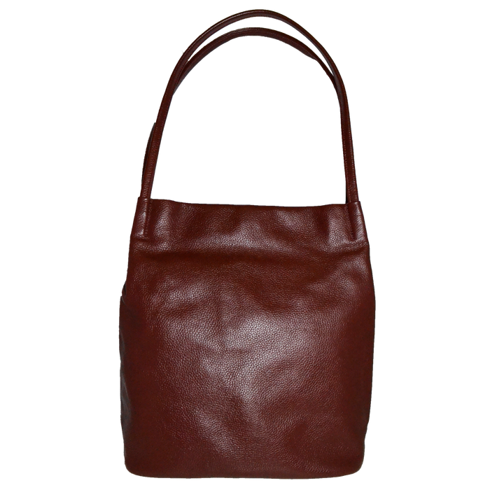 ULTIMO - Addison Road Red Soft Pebbled Leather Handbag