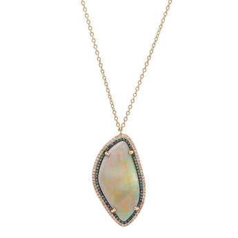 Opal and Blue Diamond Necklace | Harrisons Collection