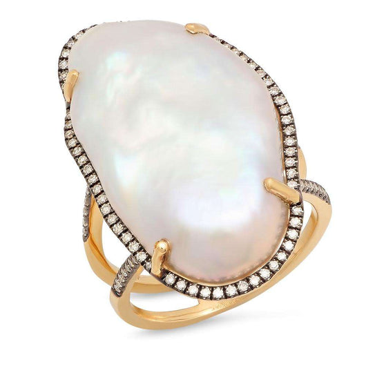Pearl and Diamond Ring | Harrisons Collection
