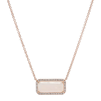 Rainbow Moonstone Block Necklace | Harrisons Collection