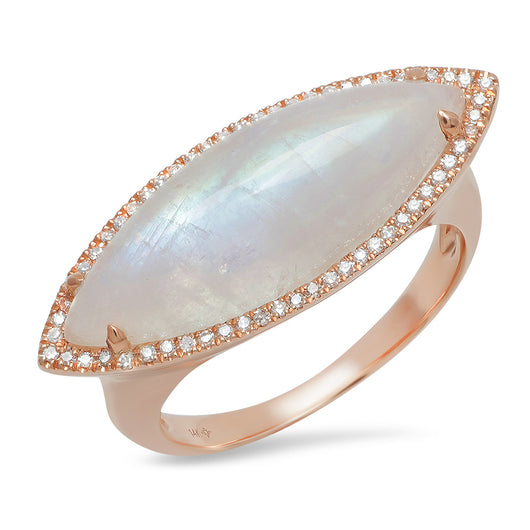 Marquis Moonstone Ring | Harrisons Collection