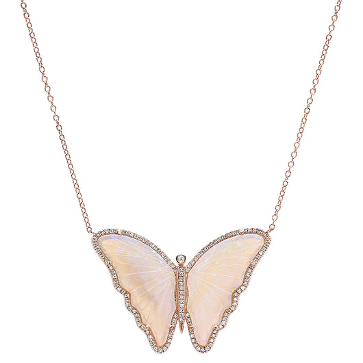 Carved Butterfly Necklace | Harrisons Collection