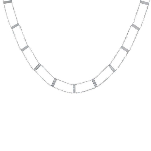 Diamond Ladder Necklace | Harrisons Collection