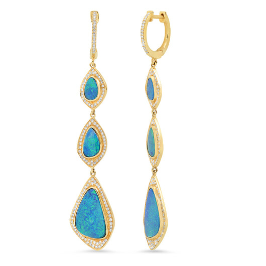 Opal and Diamond Earrings | Harrisons Collection