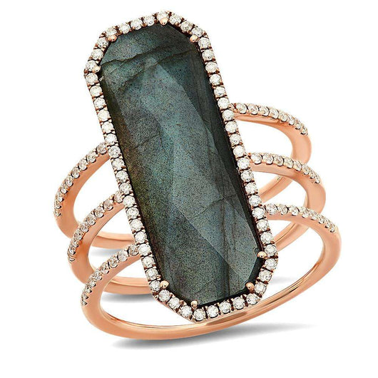Long Labradorite Ring | Harrisons Collection