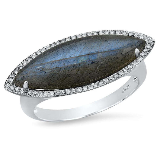 Marquis Labradorite Ring | Harrisons Collection