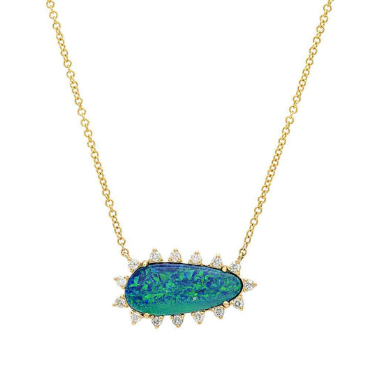 Opal Starburst Diamond Necklace | Harrisons Collection