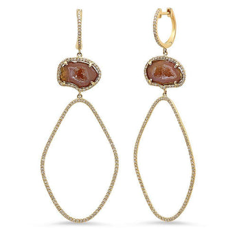 Agate Diamond Earrings | Harrisons Collection