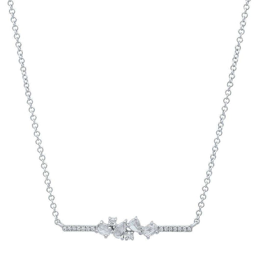 Rose Cut Diamond Bar Necklace | Harrisons Collection