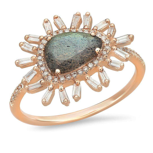 Labradorite Diamond Starburst Ring | Harrisons Collection
