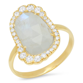 Organic Rainbow Moonstone Ring | Harrisons Collection