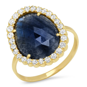 Labradorite Diamond Ring | Harrisons Collection