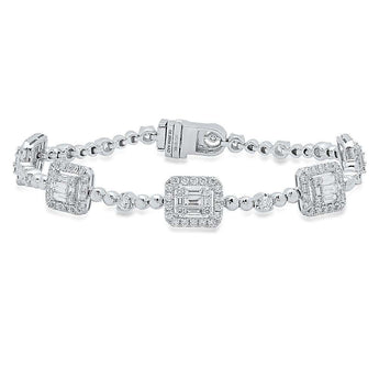 Diamond Baguette Station Bracelet | Harrisons Collection