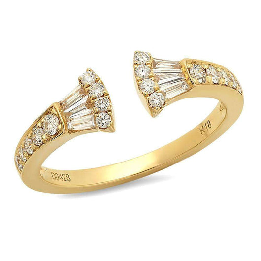 Baguette Diamond Fan Ring | Harrisons Collection