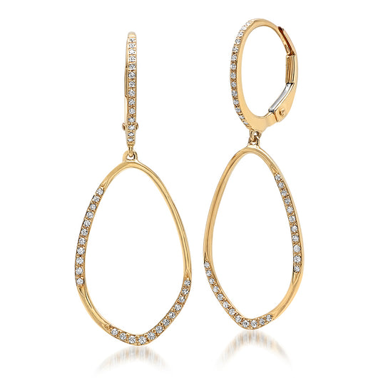 Diamond Hoop Earrings | Harrisons Collection