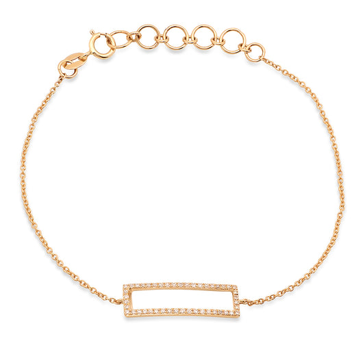 Open Rectangle Chain Bracelet | Harrisons Collection