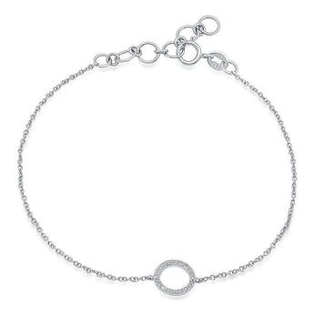 Open Circle Chain Bracelet | Harrisons Collection