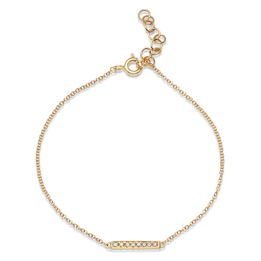 Diamond Bar Chain Bracelet | Harrisons Collection
