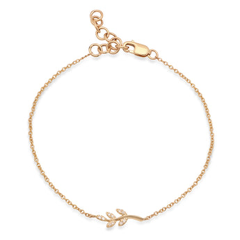 Diamond Leaf Chain Bracelet