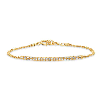 Double Diamond Bar Chain Bracelet | Harrisons Collection