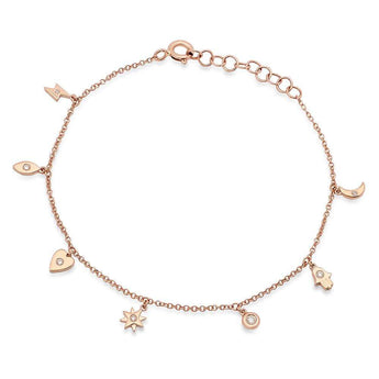 Diamond Charm Bracelet | Harrisons Collection