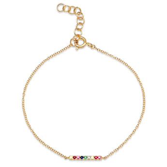 Rainbow Bar Chain Bracelet | Harrisons Collection