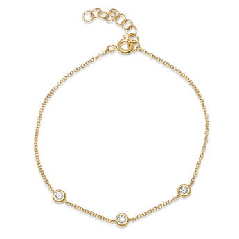Diamond By The Yard Chain Bracelet | Harrisons Collection