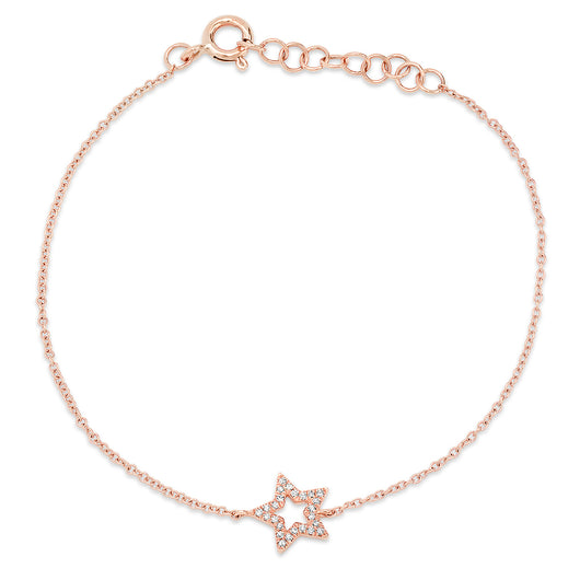 Open Star Chain Bracelet | Harrisons Collection