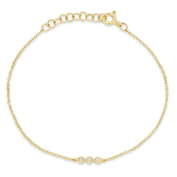 Triple Diamond Bezel Chain Bracelet | Harrisons Collection