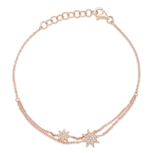 Double Starburst Chain Bracelet | Harrisons Collection