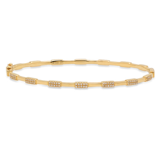 Pave Diamond Station Bangle