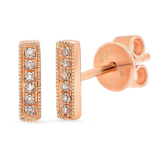 Diamond Bar Earrings | Harrisons Collection