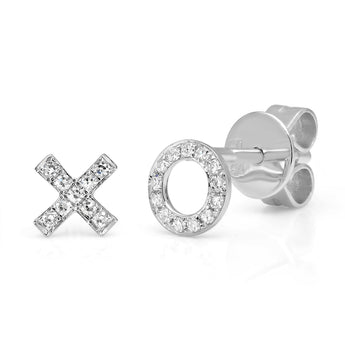 XO Diamond Studs | Harrisons Collection