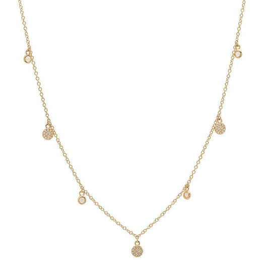 Diamond Hanging Disc Necklace | Harrisons Collection