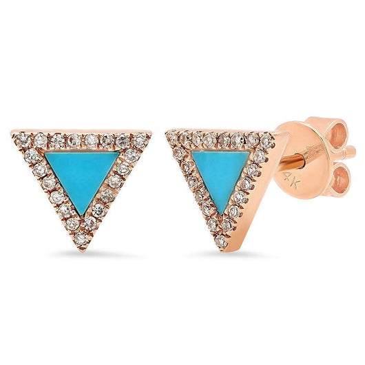 Turquoise Triangle Earrings | Harrisons Collection
